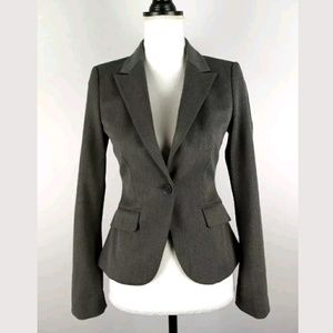 Express Gray Button Front Blazer